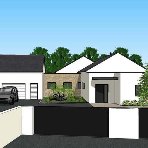 Création une maison d'habitation à Loudéac (22) Architecte : Isabelle Guillemin