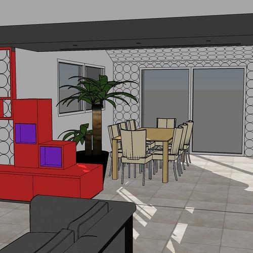 Réaménagement intérieur d''une maison réalisée dans les années 2000