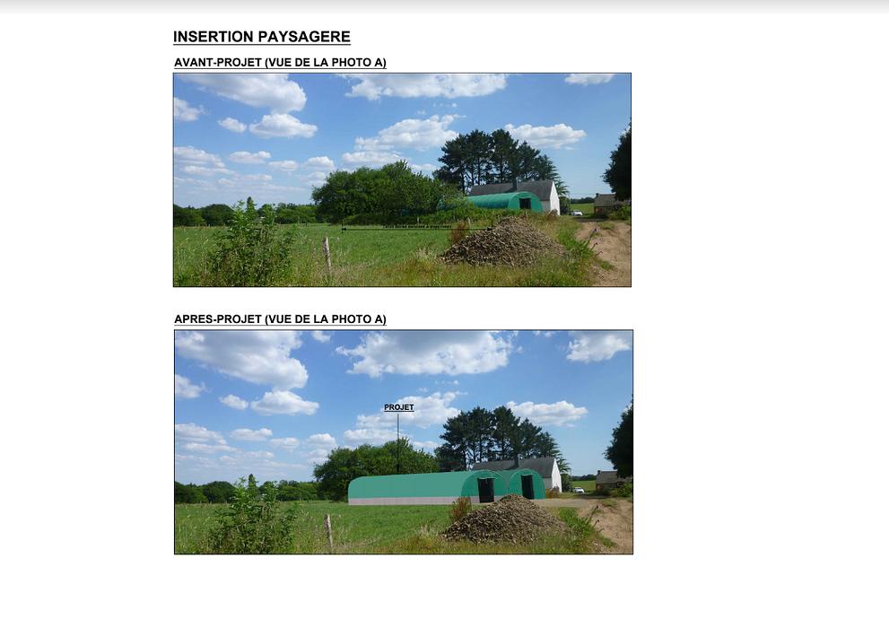 Construction stockage de fourrage sous tunnel plastique - Lanvaudan screenshot2020-12-11agricole-googledrive1