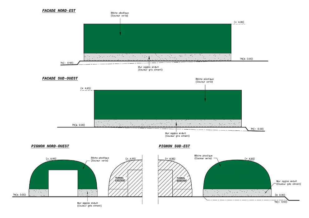 Construction stockage de fourrage sous tunnel plastique - Lanvaudan screenshot2020-12-11agricole-googledrive2